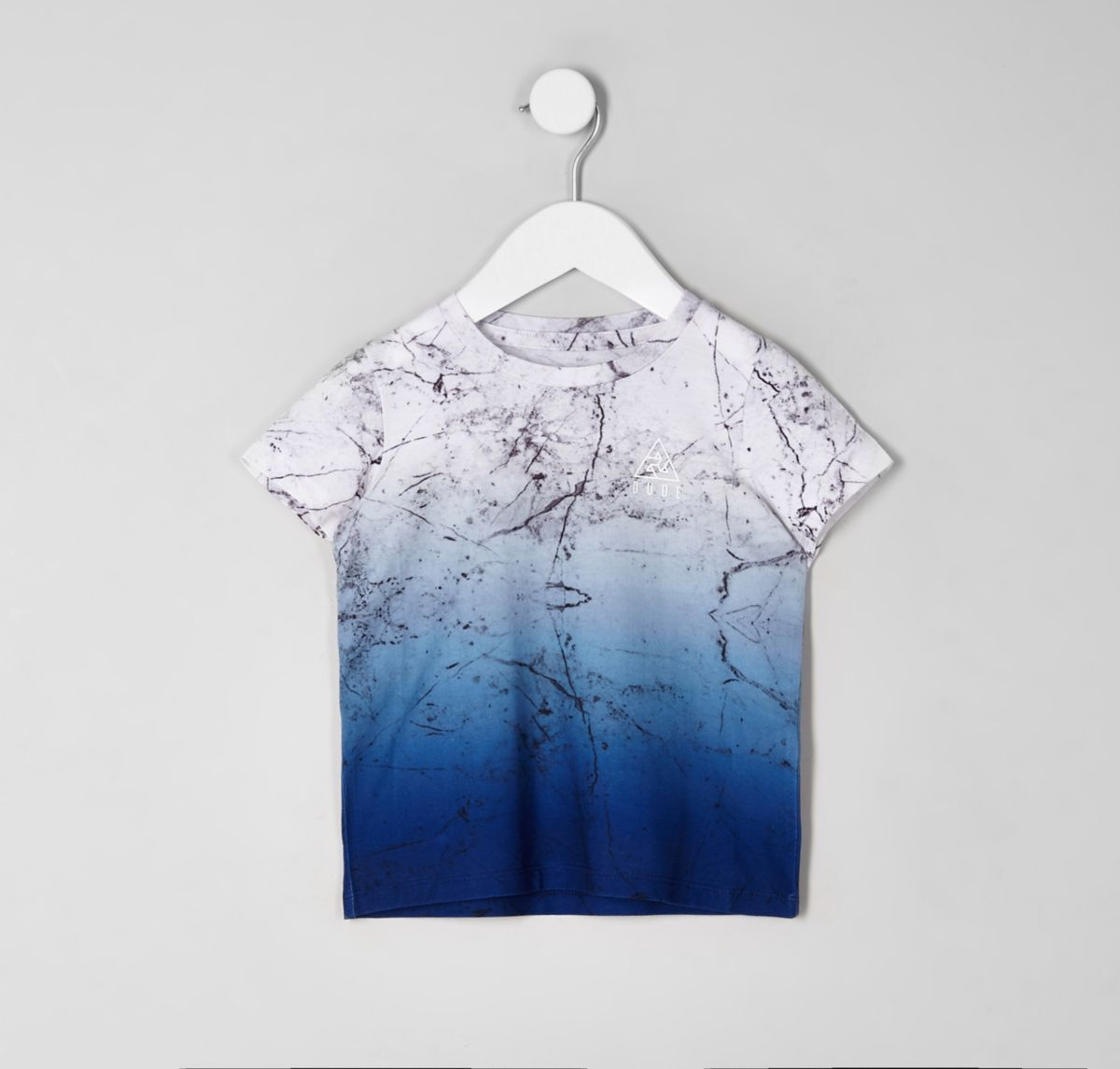 Mini boys 'Dude' marble fade T-shirt