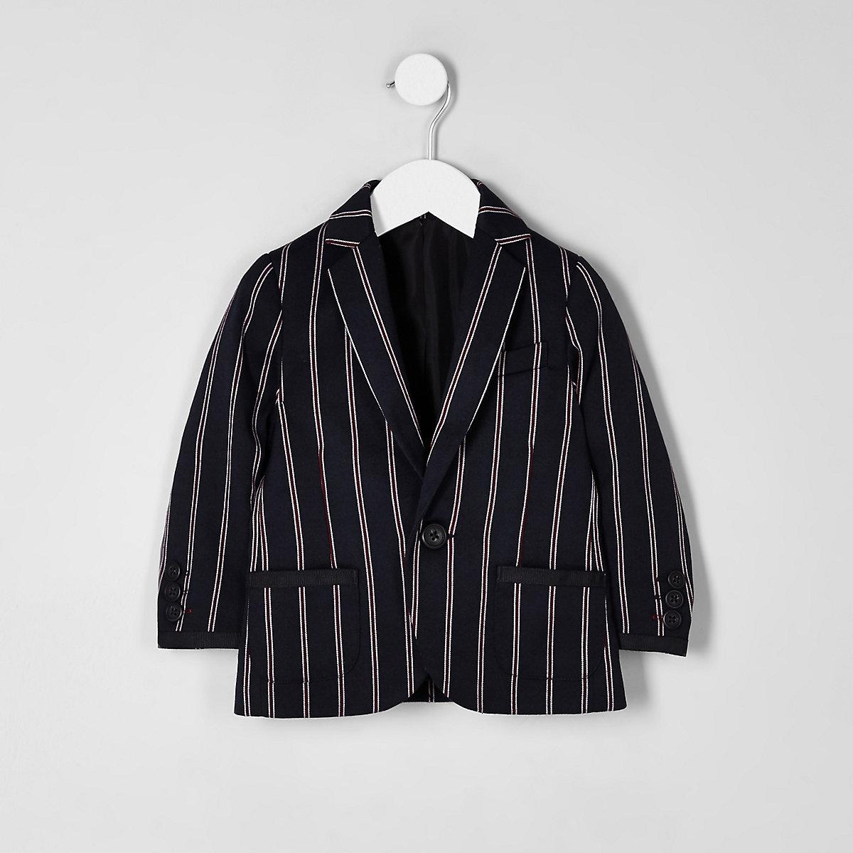 Mini boys navy stripe blazer