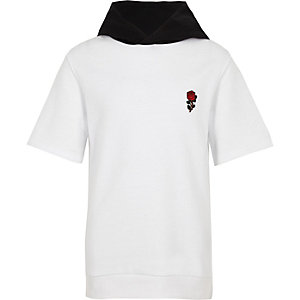 Witte hoodie met 'Exclusive'-borduursel voor jongens