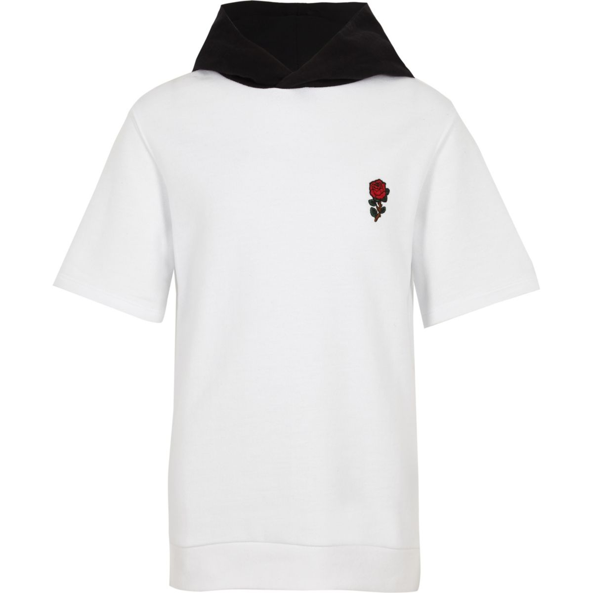 Boys white 'exclusive' embroidered hoodie