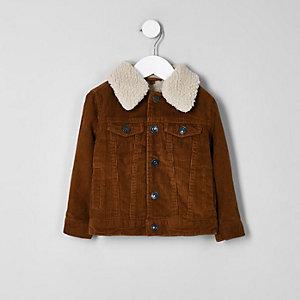 Braune Trucker-Jacke aus Cord