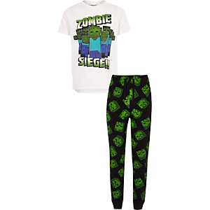 Boys Minecraft print pajama set