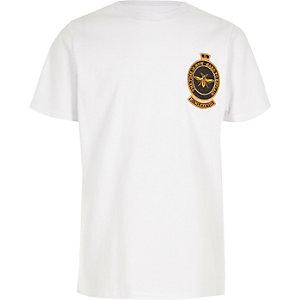 Boys embroidered wasp badge T-shirt
