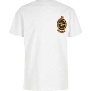 T-shirt met geborduurde wesp voor jongens