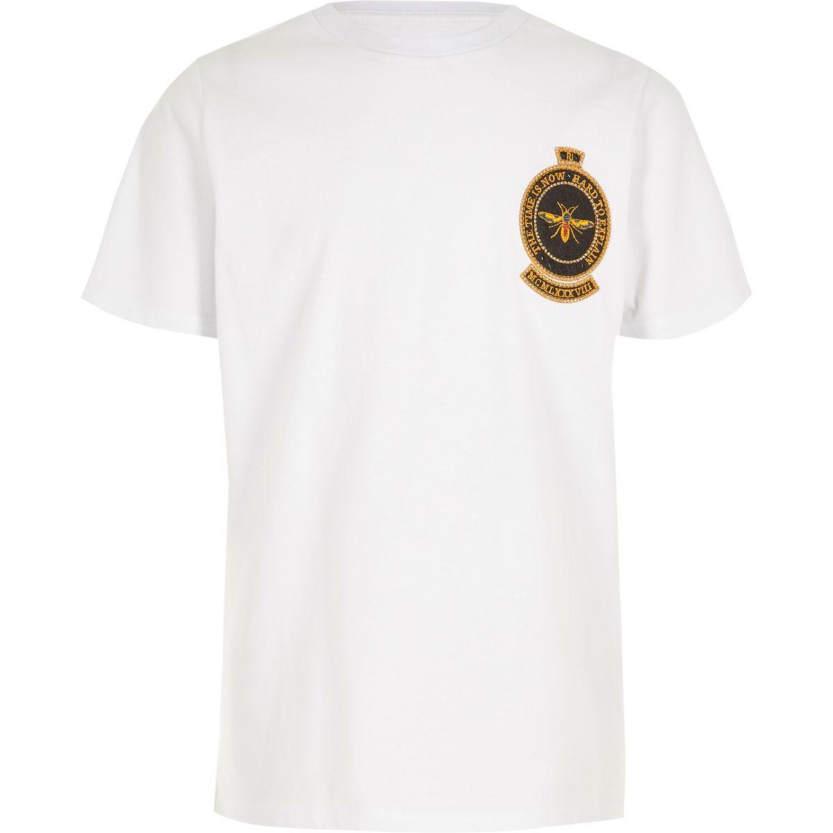T-shirt avec écusson à motif guêpe brodé pour garçon