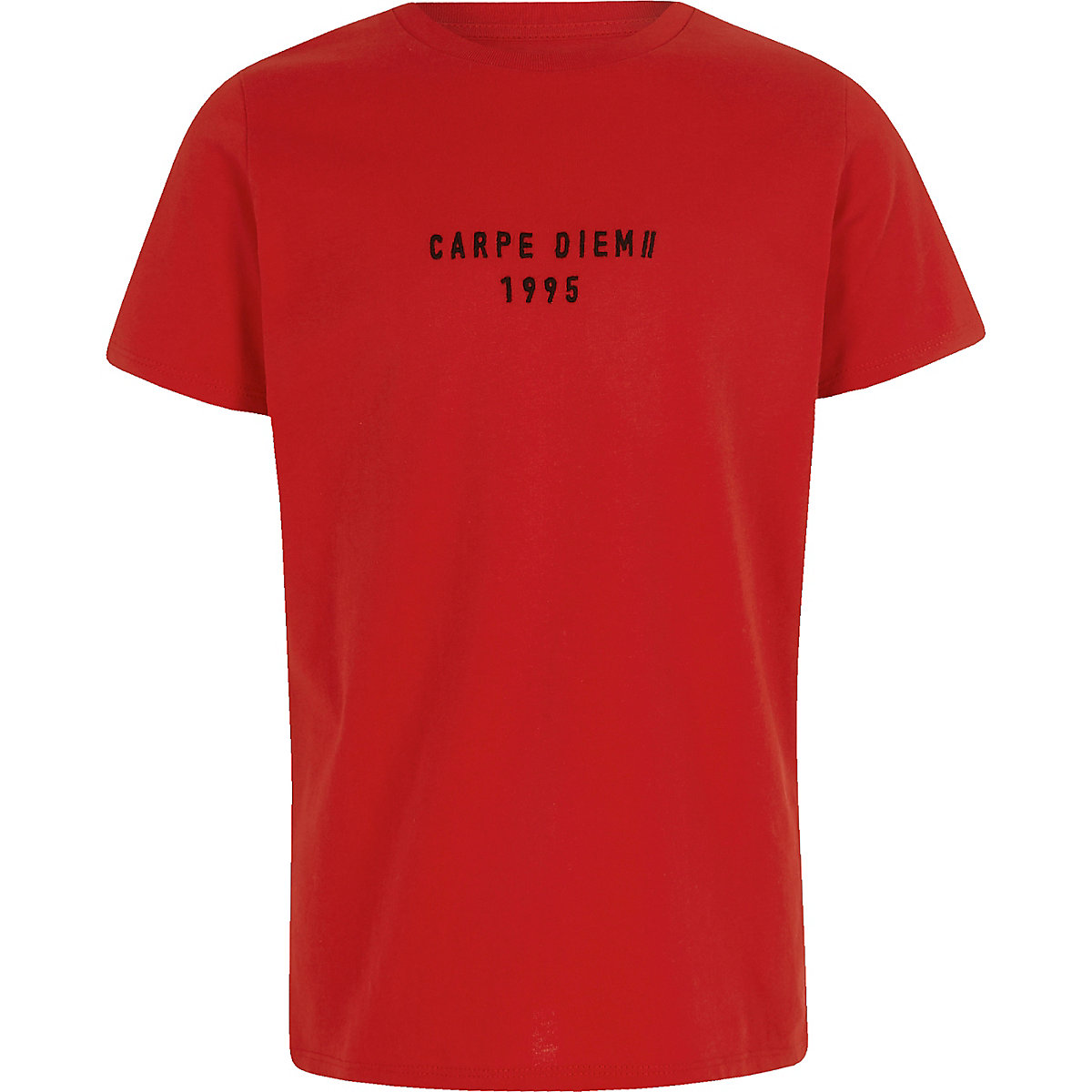 Boys red 'Carpe Diem' tape T-shirt