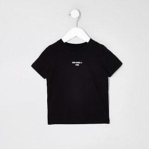 T-shirt noir avec bande « mini dude » mini garçon