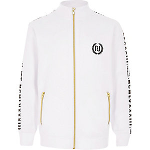 Boys white tape track jacket