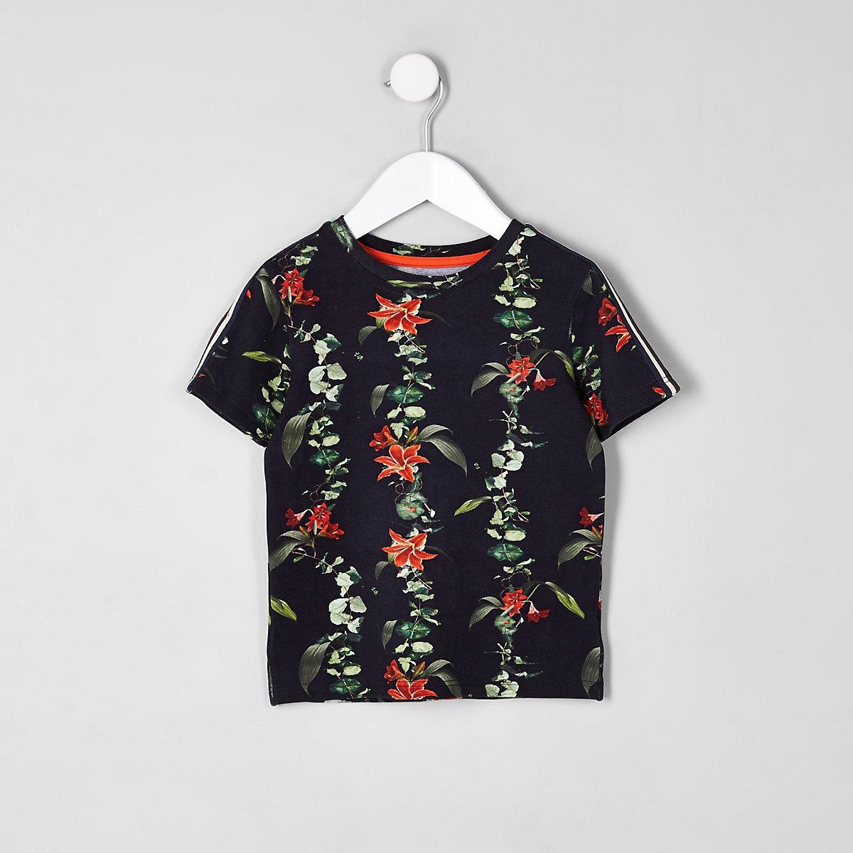 Mini boys floral tape T-shirt
