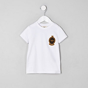 Mini boys embroidered wasp badge T-shirt