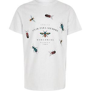 T-shirt imprimé guêpe blanc pour garçon