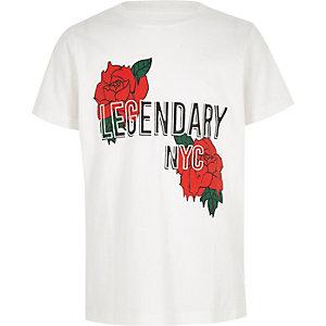 T-shirt à imprimé rose « legendary » pour garçon