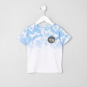 Mini - T-shirt met vervagende tropische print voor jongens