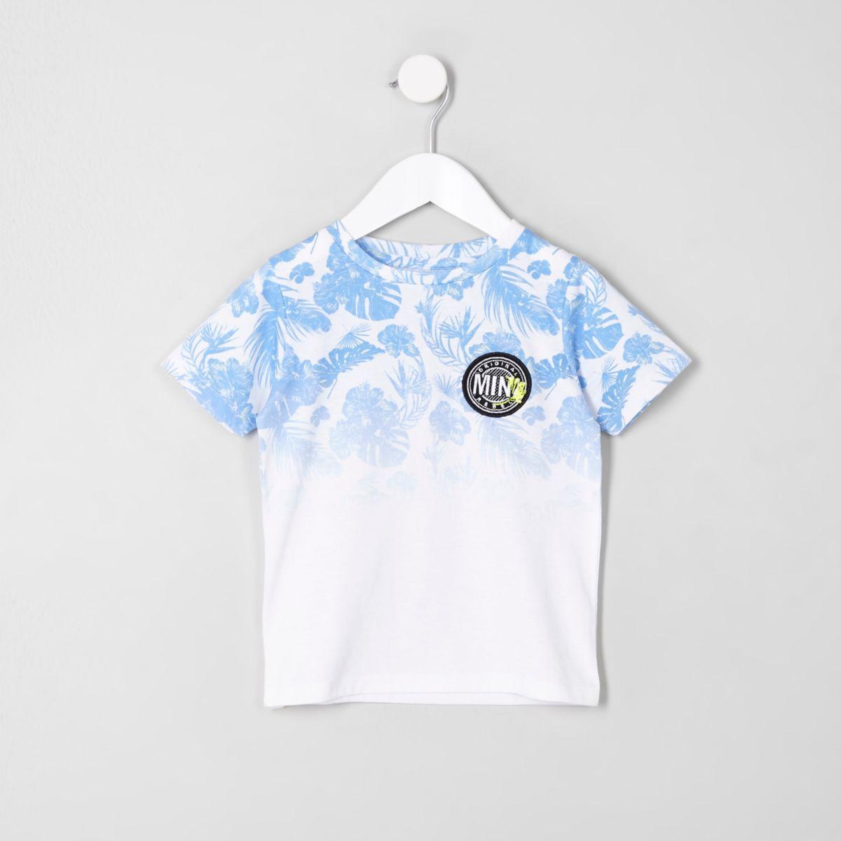 Mini boys tropical fade T-shirt