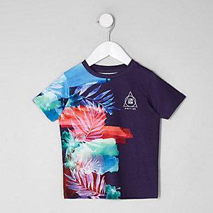 Mini boys purple side fade T-shirt