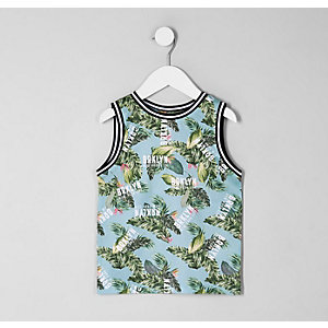 Mini boys 'Brklyn' palm print tank