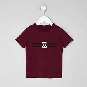 Mini - Rood T-shirt met 'eternity'-folieprint voor jongens