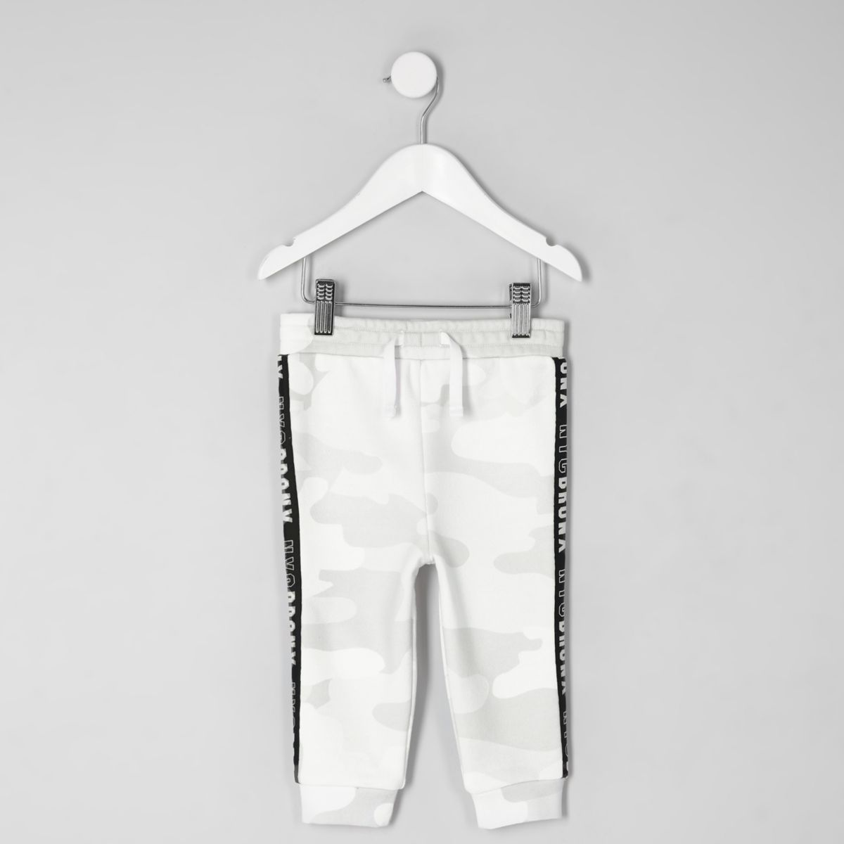 Pantalon de jogging blanc avec bande latérale camouflage mini garçon