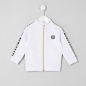 Mini boys white tape track jacket