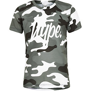 Hype – Graues T-Shirt mit Camouflage-Muster