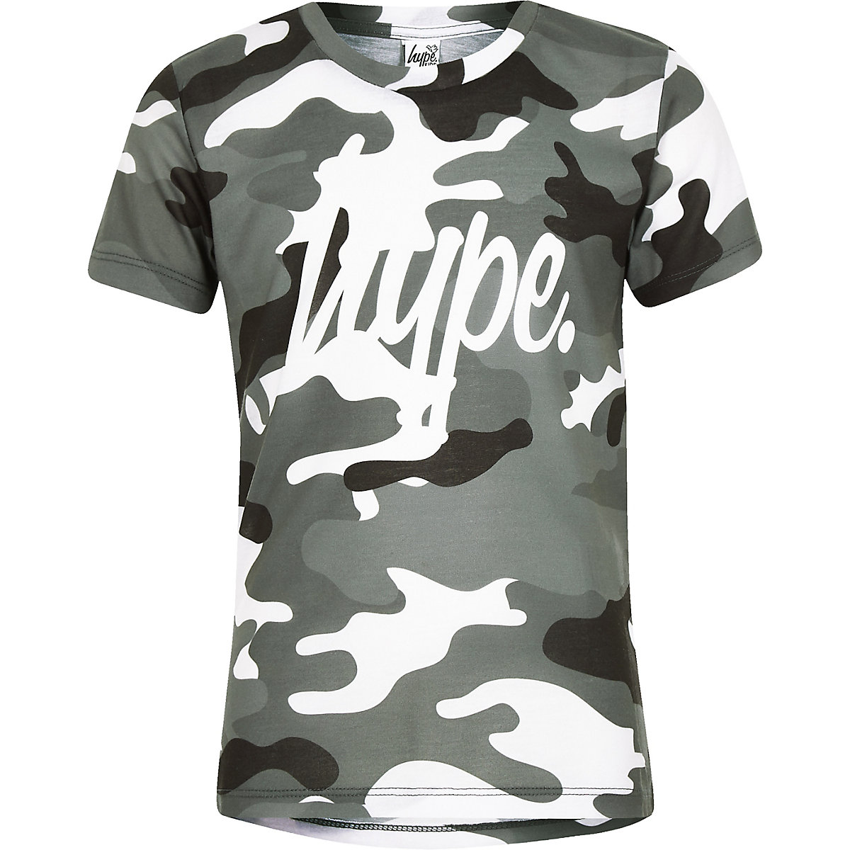 Boys Hype grey camo T-shirt