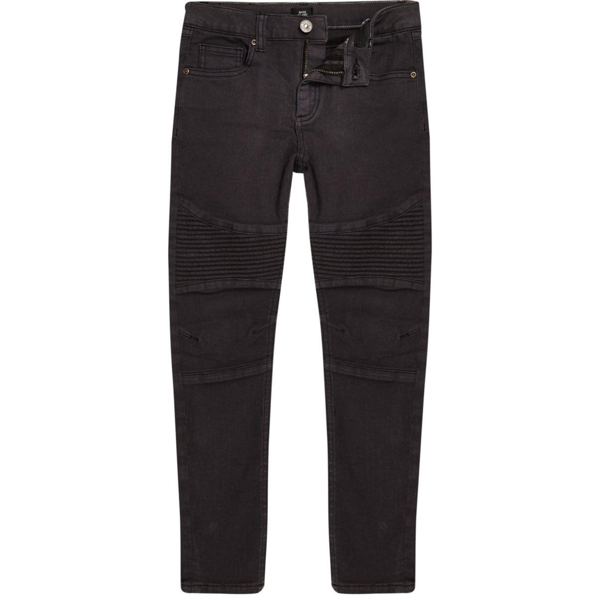 Boys dark blue Sid skinny biker jeans