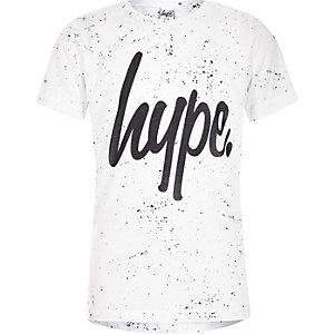 Hype – T-shirt imprimé moucheté blanc pour garçon