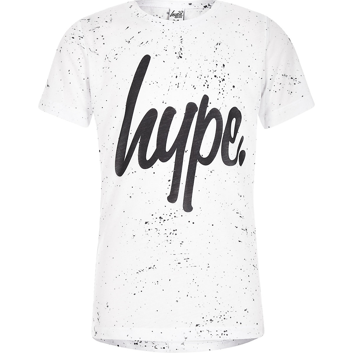 Boys Hype white speckle print T-shirt
