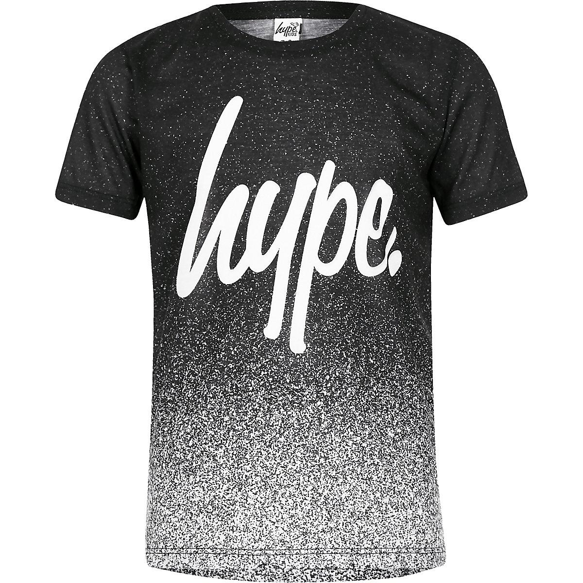 Boys Hype black speckled T-shirt