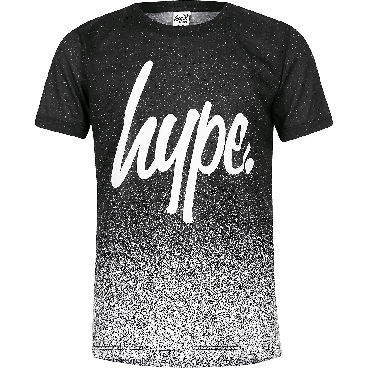 Boys Hype black speckled T-shirt