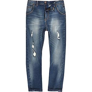 Boys mid blue ripped Tony jeans