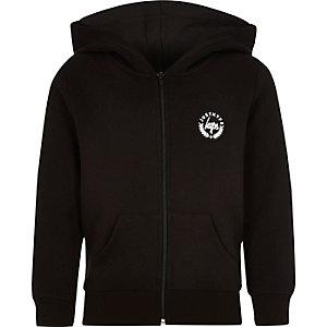 Hype - Zwarte hoodie met rozendoornprint voor jongens