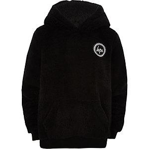Hype boys black faux fur hoodie