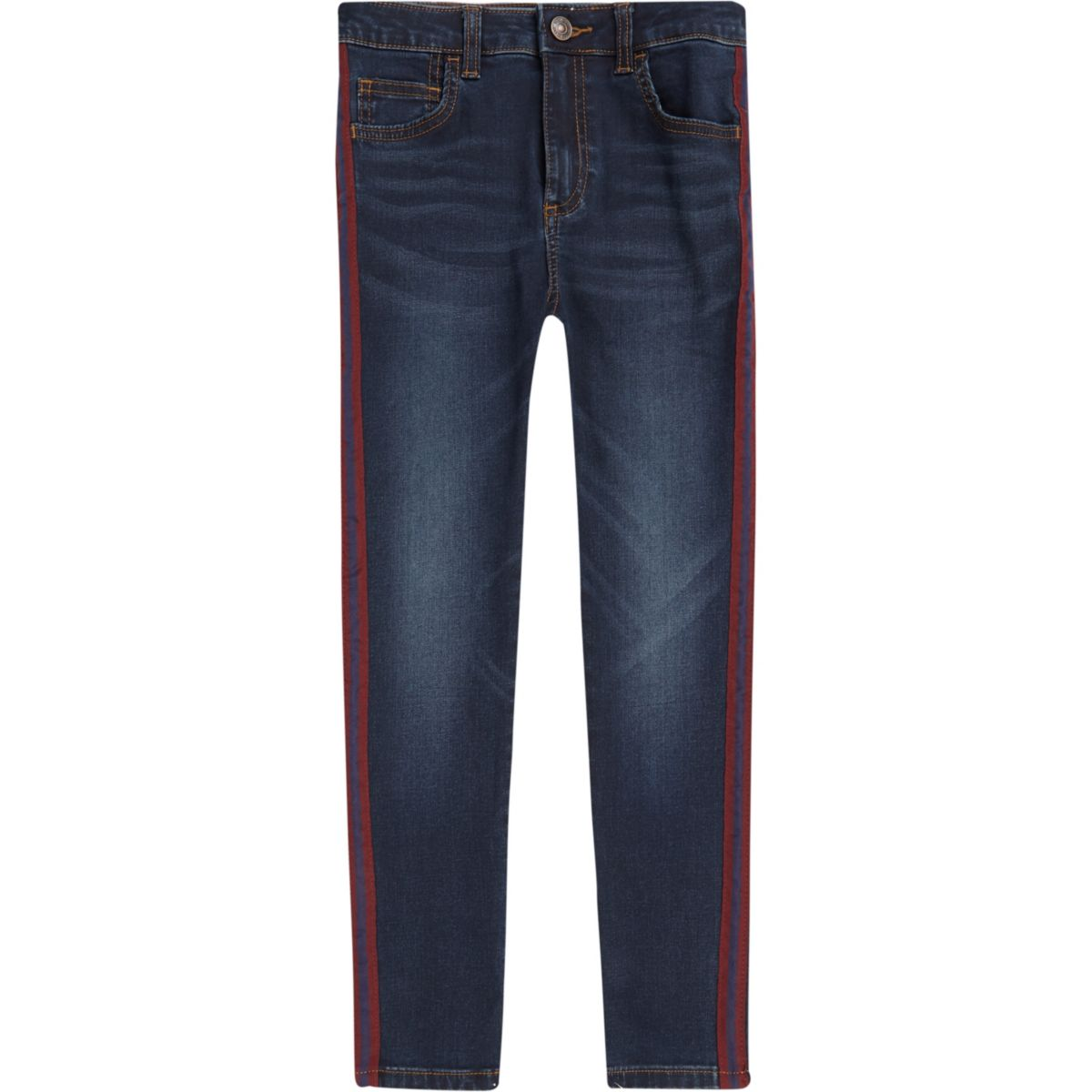 Boys blue Danny side stripe super skinny jean