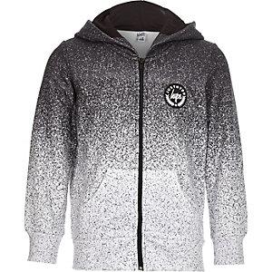 Hype - Grijze gespikkelde hoodie met rits voor jongens