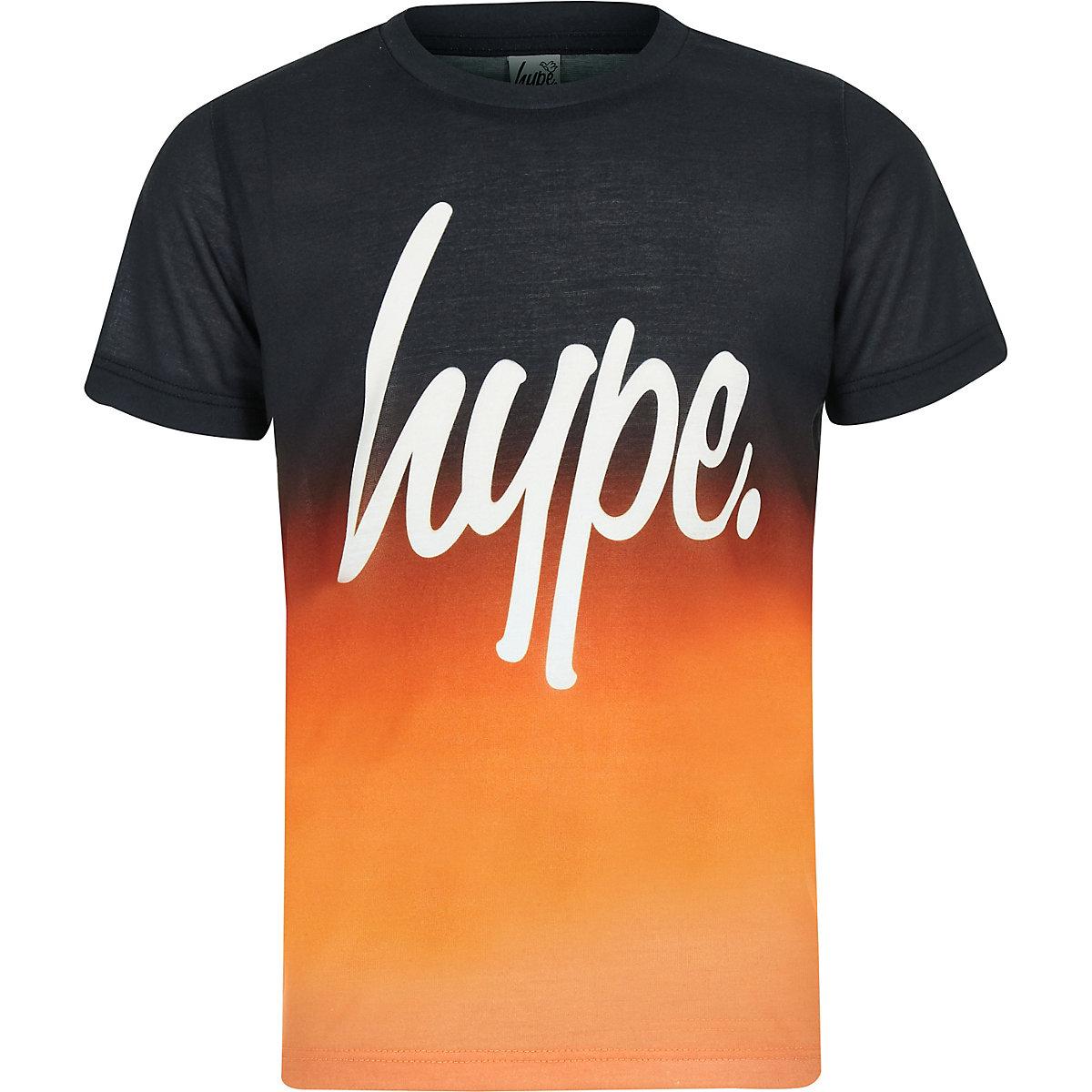 Boys Hype orange fade T-shirt