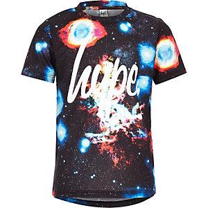 Hype - Marineblauw T-shirt met ruimteprint voor jongens