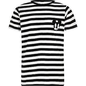 Zwart gestreept Mickey Mouse T-shirt voor jongens
