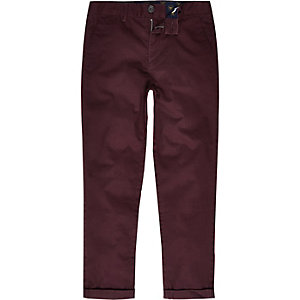 Boys purple chino pants