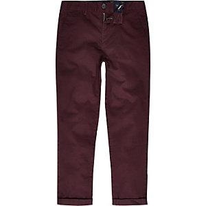 Pantalon chino violet pour garçon