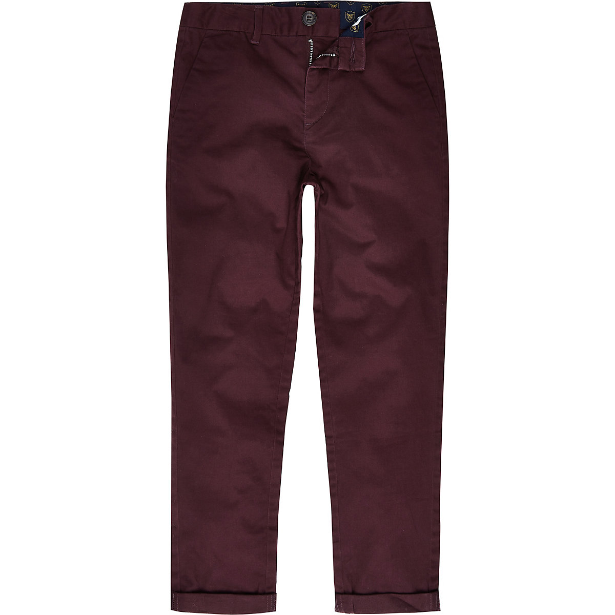 Boys purple chino trousers