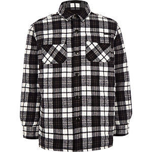 Boys long sleeve check shacket