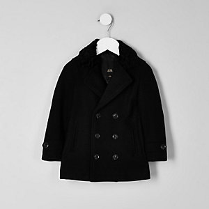 RI 30 mini boys black double breasted coat