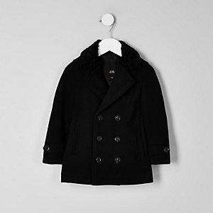 Mini - RI 30 Zwarte double-breasted jas voor jongens