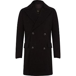 RI 30 - Zwarte double-breasted wollen jas voor jongens