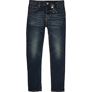 Skinny dark wash Sid jeans voor jongens