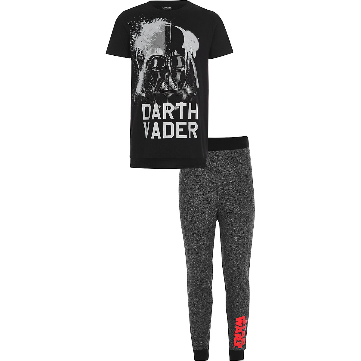 Boys black Star Wars pyjama set