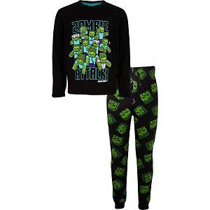 Boys Minecraft printed pajama outfit