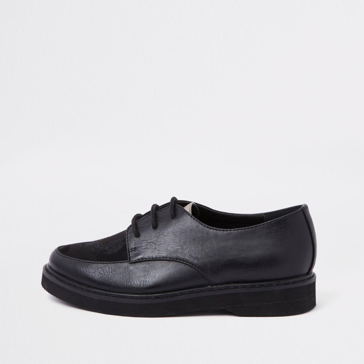 RI 30 boys black creeper shoes
