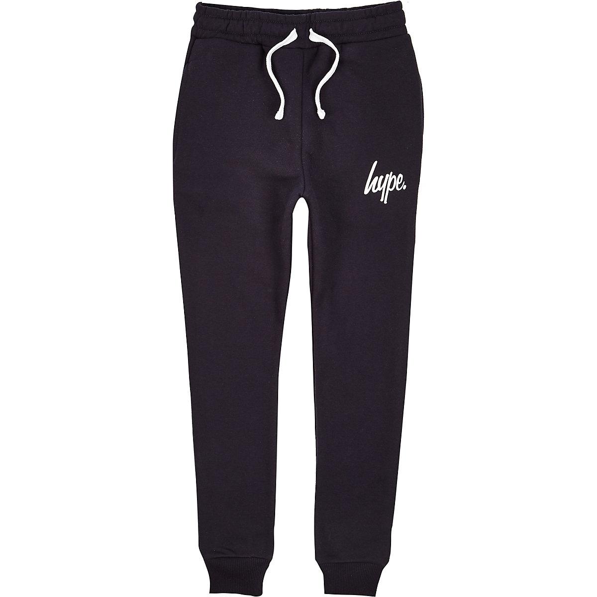Hype – Pantalon de jogging à inscription bleu marine pour garçon